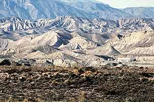 Imagen del desierto de Tabernas, en Almería. (Foto: EFE)