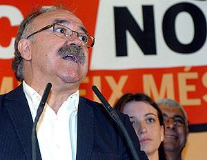 Carod-Rovira durante su comparecencia entre los medios. (Foto: EFE)