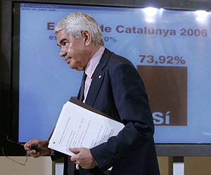 Pasquall Maragall, el pasado domingo, tras el referéndum. (Foto: AP)
