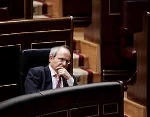 José Montilla, en el Congreso de los Diputados. (Foto: Javi Martínez)