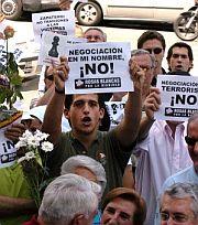 'Negociación en mi nombre, no' ha sido uno de los lemas. (Foto: Víctor Lerena/Efe)