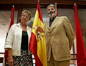 Margarete Auken (izda.) y Proinsias de Rossa. (Foto: Jaime Villanueva)