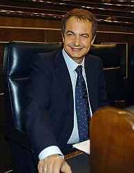Rodríguez Zapatero, en el Congreso. (Foto: EFE)