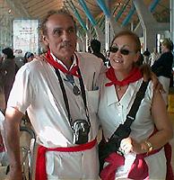 Patxi y Fe, devotos de San Fermín. (Foto: I. R.)
