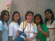 Marta Pascual y otros miembros de 'Terral'. (Foto: I.R.)