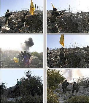 Ataque de Hizbulá a un puesto israelí en la frontera de Israel con Líbano, en 2002. (Foto: AFP)