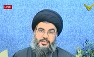 El líder de Hizbulá, en su discurso televisado.