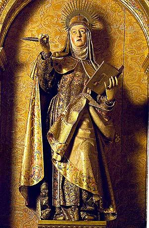 Imagen de Santa Teresa, en la iglesia de El Carmen de Medina de Rioseco de Valladolid. (Foto: J. A. G.)