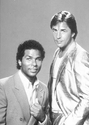 Los protagonistas de la serie, Don Johnson y Philip Michael Thomas.