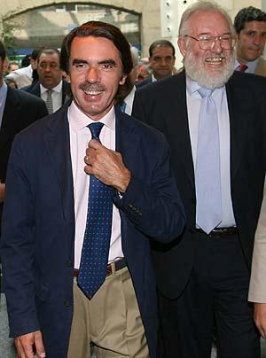 José María Aznar, la semana pasada en un curso de verano de El Escorial (Madrid). (Foto: EFE)