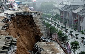 Vista de la parte de la muralla que se ha derrumbado. (Foto: AP)