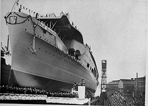 Botadura del 'Graf Zeppelin' en 1938. (Foto: AP)