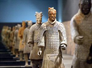 Algunos de los guerreros de terracota del primer emperador chino. (Foto: Antonio Moreno)
