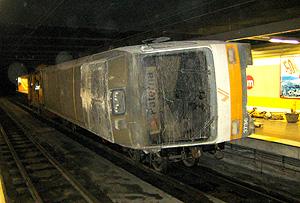 Imágenes inéditas del tren siniestrado, utilizadas por la comisión. (Foto: TRANSITO)