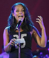 La cantante Alicia Keys en la Conferencia Mundial de Sida. (Foto: J.P. Moczulski | Reuters)
