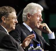 Bill Gates y Bill Clinton durante la Conferencia (Foto: Reuters | J.P. Moczulski)