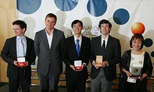 Los ganadores de la medalla Fields. (Foto: Reuters)