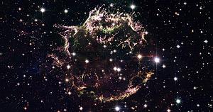 Los restos de Casiopea tras su explosión en una imagen del telescopio Hubble. (Foto: AFP)