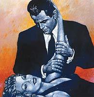 dibujo de Rita Hayworth y Glenn Ford en 'Gilda'