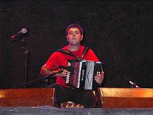 Kepa Junkera durante una actuación. (Foto: EL MUNDO)