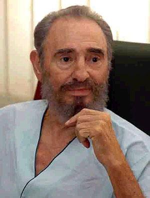Castro, en el hospital donde se recupera. (Foto: Granma)
