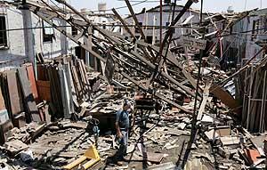 Destrucción en la ciudad israelí de Haifa en una imagen del 23 de julio. (Foto: REUTERS)