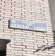 Imagen de la placa de la calle del General Yagüe. (elmundo.es)