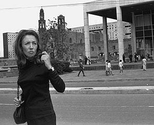 Oriana, en México, el 15 de octubre de 1968. (Foto: AP)