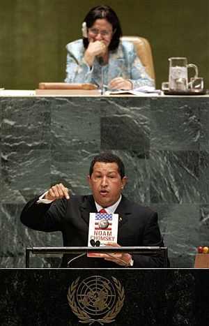 Chávez, durante su intervención. (Foto: AP)