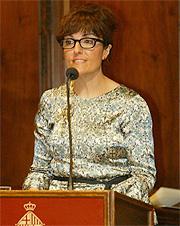 Elvira Lindo durante la lectura del pregón. (Foto: Antonio Moreno)