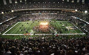 El Superdome de Nueva Orleans, durante las ceremonias de reapertura del estadio. (Foto: AP)