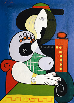 'Seated Woman with Wrist Watch' (1932), de Pablo Picasso. (Foto: Museo Whitney)