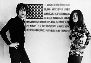 John Lennon y Yoko Ono. (Foto: EFE)