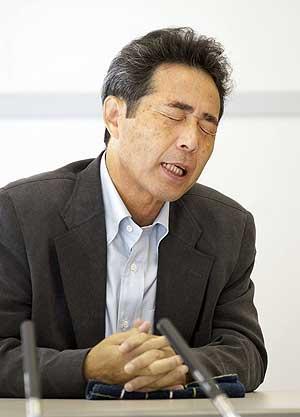 Haraguchi, mientras recitaba la retahila. (Foto: AFP)