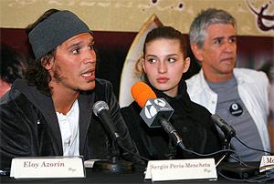 Sergio Peris-Mencheta, junto a María Valverde y Antonio Hernández, en la presentación de la cinta.