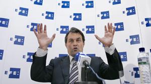 El candidato del CiU a la presidencia de la Generalitat, Artur Mas. (Foto: EFE)