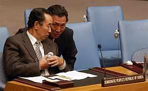 Pak Gil Yon, embajador de Corea del Norte ante la ONU, durante la reunión del Consejo de Seguridad. (Foto: AP)