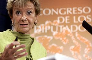 La vicepresidenta del Gobierno, María Teresa Fernández de la Vega, el político mejor valorado. (Foto: EFE)