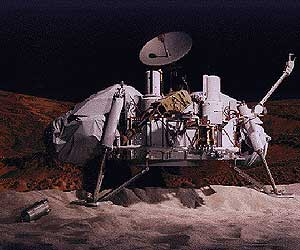 Reconstrucción de la 'Viking' posada en Marte. (Ilustración: NASA)