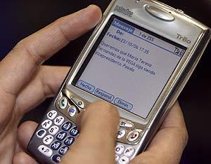 El texto con el mensaje enviado. (Foto: Alberto Cuéllar)
