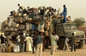 Un convoy con más de 280 ilegales en Agadez (Níger). (Foto: Benito Pajares)
