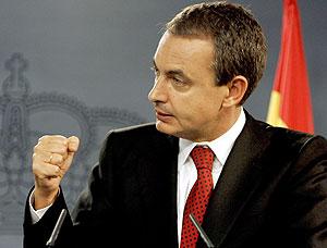 Zapatero durante su intervención. (Foto: AP)