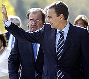 Zapatero, en San Leonardo de Yagüe (Soria). (Foto: EFE)
