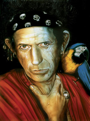 El retrato que Keith Richards pintado por Paul Karslake. (Foto: Artisan Galleries)