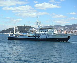 El buque oceanográfico 'Cornide de Saavedra', en 2005. (Foto: IEO)