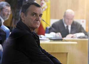 El etarra De Juana Chaos, en el banquillo de la Audiencia Nacional. (Foto: EFE)