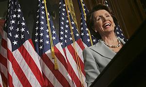 Nancy Pelosi tras conocer la noticia. (Foto: AP)