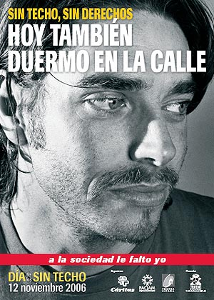 Cartel del Día de los 'sin techo'. (Foto: Cáritas)