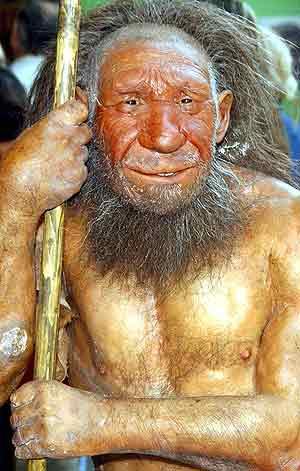 Reconstrucción de un hombre de neandertal. (Foto: Nature)