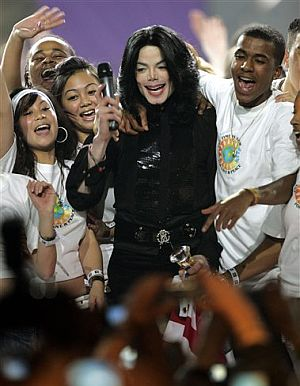 Michael Jackson, durante la actuación. (Foto: AP)